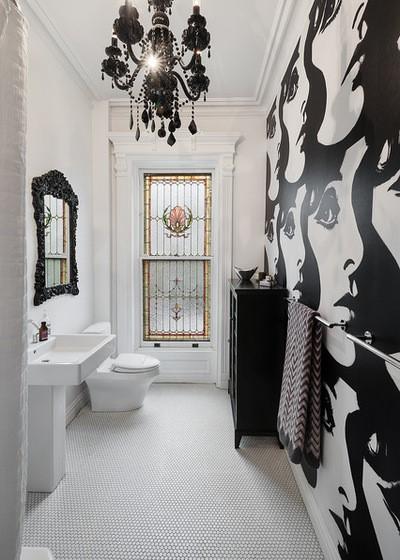 Inspiracje tapety w wilgotnych łazienkach