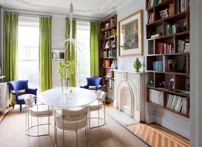 Inspiracje odcienie zieleni tapety pokój dzienny