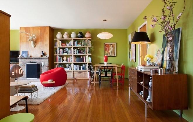 Inspiracje odcienie zieleni tapety pokój