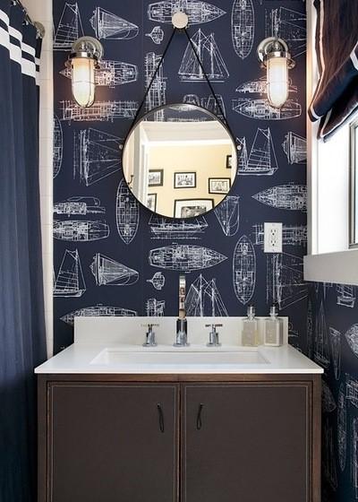 Inspiracje tapety w łazienkach